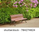 a bench under the lilac tree in ...   Shutterstock . vector #784274824