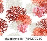 beautiful seamless vector... | Shutterstock .eps vector #784277260