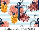 beautiful seamless vector...   Shutterstock .eps vector #784277389