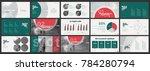 green red presentation...   Shutterstock .eps vector #784280794