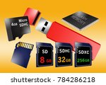 flash memory is the theme of... | Shutterstock . vector #784286218