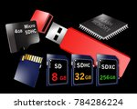 flash memory is the theme of... | Shutterstock . vector #784286224