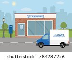 post office building  delivery... | Shutterstock .eps vector #784287256