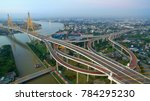 aerial view of bhumibol bridge... | Shutterstock . vector #784295230
