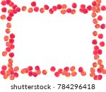 rose petals border invitation... | Shutterstock .eps vector #784296418