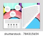abstract vector layout... | Shutterstock .eps vector #784315654