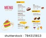 vector menu design for...   Shutterstock .eps vector #784315813