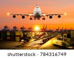 concept of logistic industry ... | Shutterstock . vector #784316749