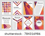 abstract vector layout... | Shutterstock .eps vector #784316986