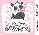 cute teddy bear character in... | Shutterstock .eps vector #784326043