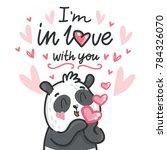 cute teddy bear character in... | Shutterstock .eps vector #784326070