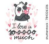 cute teddy bear character in... | Shutterstock .eps vector #784326106