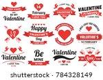 valentine template banner... | Shutterstock .eps vector #784328149