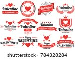 valentine template banner... | Shutterstock .eps vector #784328284