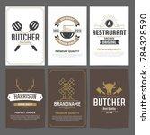 restaurant retro vector logo... | Shutterstock .eps vector #784328590