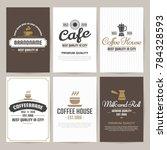restaurant retro vector logo... | Shutterstock .eps vector #784328593