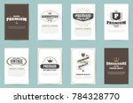 vintage retro vector logo for... | Shutterstock .eps vector #784328770