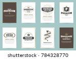 vintage retro vector logo for... | Shutterstock .eps vector #784328770