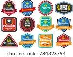 vintage retro vector logo for... | Shutterstock .eps vector #784328794