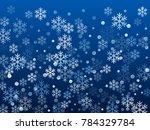 white snowflake macro vector...   Shutterstock .eps vector #784329784