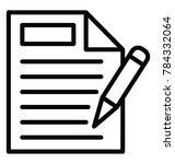 a legal document and pen ready... | Shutterstock .eps vector #784332064