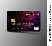 modern credit card template...   Shutterstock .eps vector #784335220