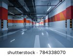 empty underground parking garage | Shutterstock . vector #784338070