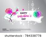 flower romantic collection.... | Shutterstock .eps vector #784338778