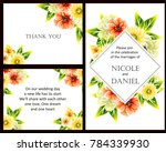 invitation with floral... | Shutterstock .eps vector #784339930