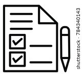 a checklist with tick mark ... | Shutterstock .eps vector #784340143