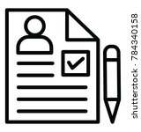 curriculum vitae or job...   Shutterstock .eps vector #784340158