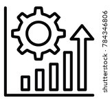 a bar chart with gear  increase ... | Shutterstock .eps vector #784346806