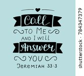 hand lettering call to me and i ... | Shutterstock .eps vector #784347379