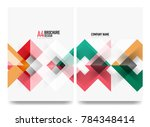 business brochure cover layout  ... | Shutterstock .eps vector #784348414