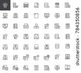 data recovery line icons set ... | Shutterstock .eps vector #784350856
