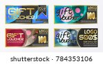gift certificate voucher coupon ... | Shutterstock .eps vector #784353106