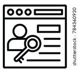 line vector icon design of... | Shutterstock .eps vector #784360930
