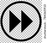 next sign. gray dark button on... | Shutterstock .eps vector #784365910