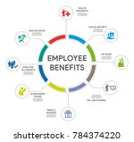 employee benefits circle... | Shutterstock .eps vector #784374220
