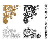 classical baroque vector set of ... | Shutterstock .eps vector #784383550