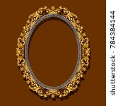 frame gold color with shadow on ... | Shutterstock .eps vector #784384144