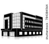 silhouette office building with