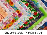 cotton fabric is folded into an ... | Shutterstock . vector #784386706
