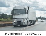 truck on the road under the... | Shutterstock . vector #784391770