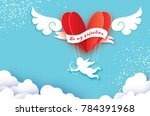 flying cupid   little angel.... | Shutterstock .eps vector #784391968