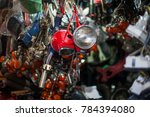 many motorcycle parts | Shutterstock . vector #784394080