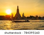 wat arun at sunset  bangkok... | Shutterstock . vector #784395160