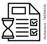 project timeline  task deadline ... | Shutterstock .eps vector #784396318