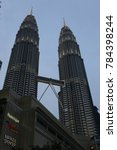 the petronas twin towers in... | Shutterstock . vector #784398244