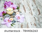 spa and massage products with... | Shutterstock . vector #784406263